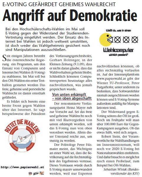 grazer stadtblatt E-Voting
